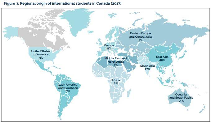 中国留学生占领加拿大!7年涨幅119% 这里已成留学宝地
