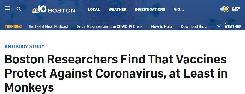 刚刚 新冠疫苗告捷! 接种对象暴露在病毒中 没有感染 体内0新冠!