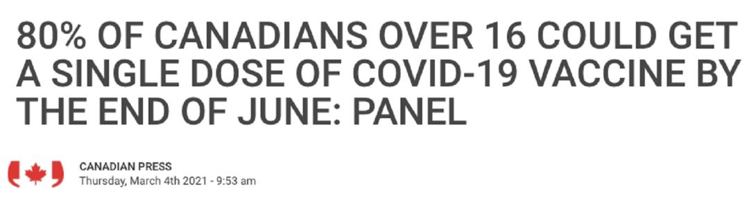 突发! 加拿大批准强生疫苗! 80%国民6月或可接种 特鲁多报喜: 马上轮到你! 新闻 第7张